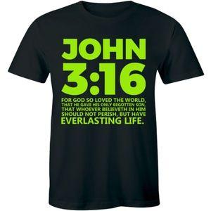 John 3:16 T-Shirt Bible Religion Christian Jesus